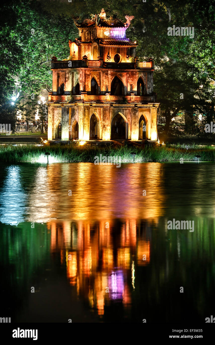 Turtle Tower, See Hoan Kiem, Hanoi, Vietnam Stockbild