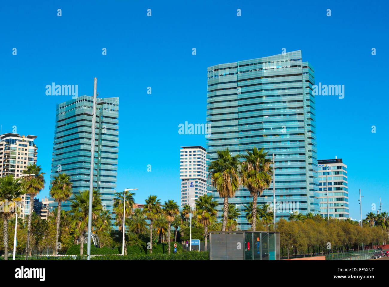 Diagonal Mar, Sant Marti Bezirk, Barcelona, Spanien Stockbild