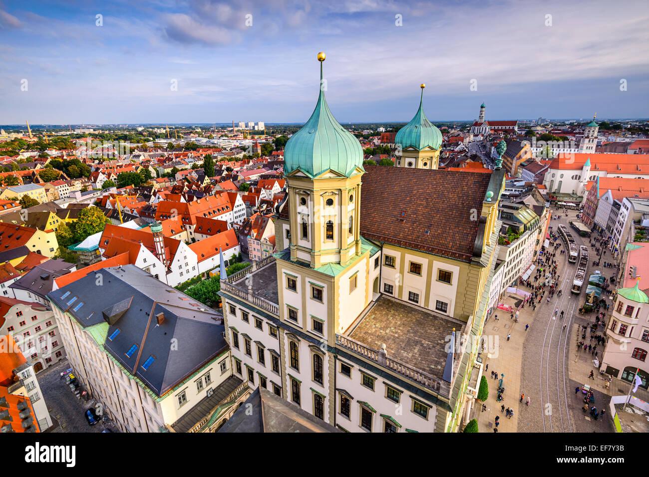 Augsuburg, Deutschland Skyline der Stadt. Stockbild