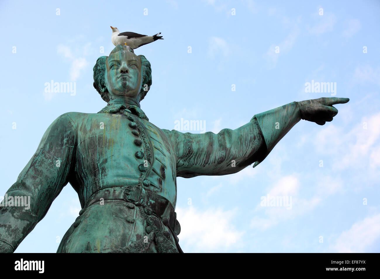 Statue von König Karl XII von Schweden in Stockholm. Schweden. Stockbild