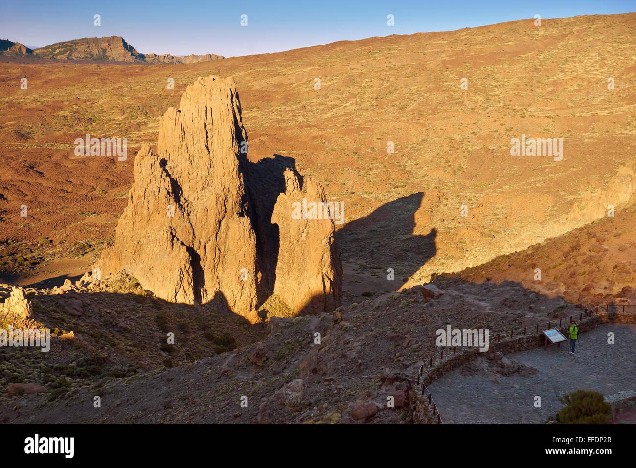 Felsformation im Teide-Nationalpark, Teneriffa, Kanarische Inseln, Spanien Stockbild
