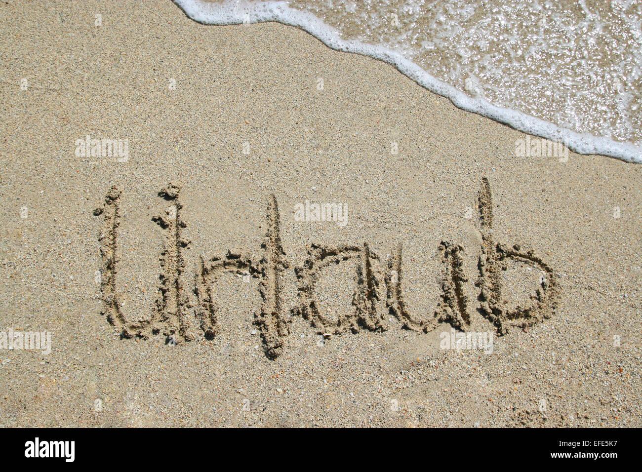 Strand Urlaub Meer Stockbild