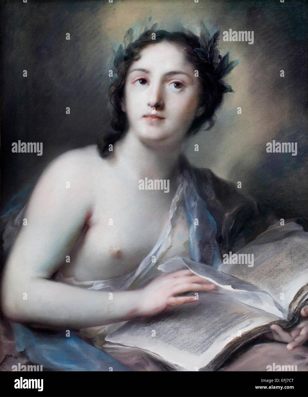 Gedichte 1720 Rosalba Zuanna Carriera 1673 ? 1757 venezianischen Rokoko Maler Italien Italienisch Stockbild
