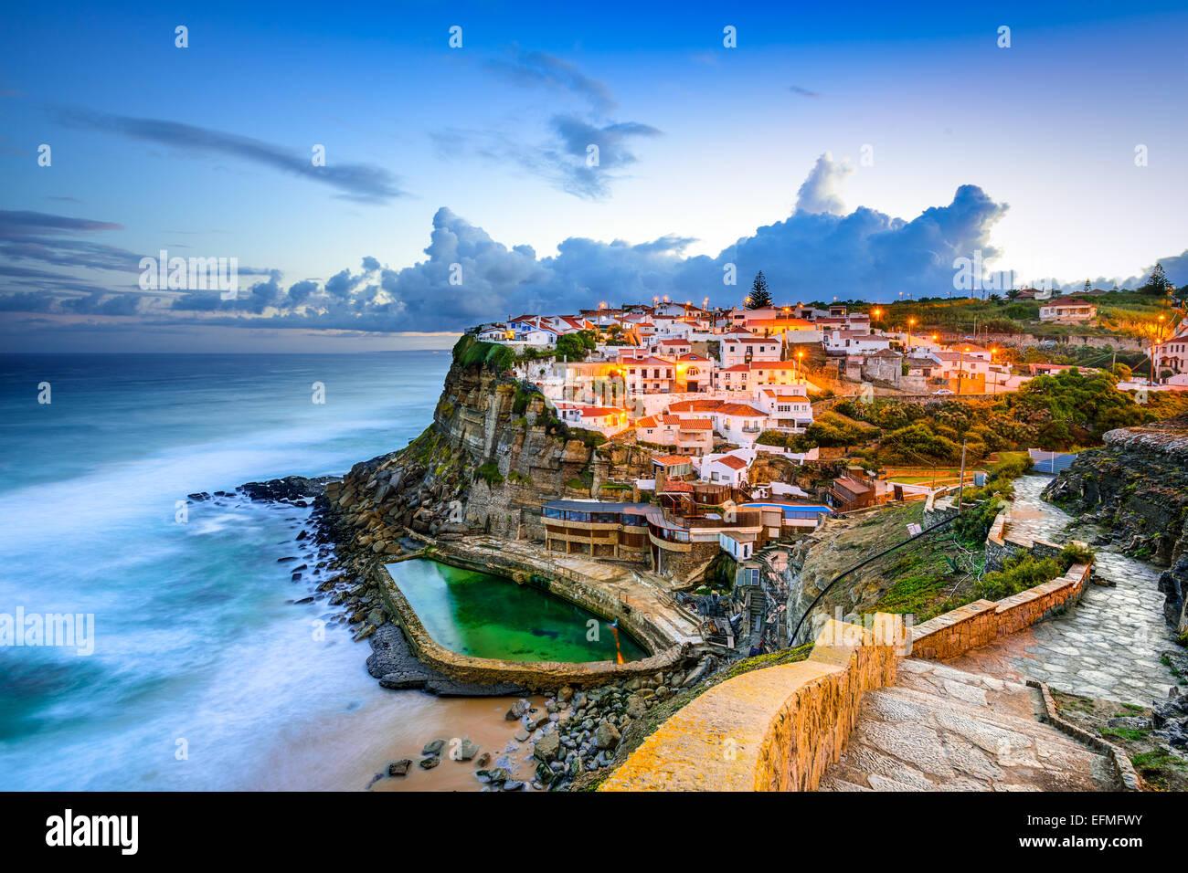 Azenhas Do Mar, Portugal Küstenstadt. Stockbild