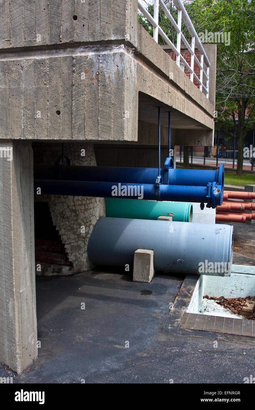 Baltimore, Maryland, USA, Baltimore öffentliche Arbeiten Museum, straßenbild Skulptur, städtische Stockbild