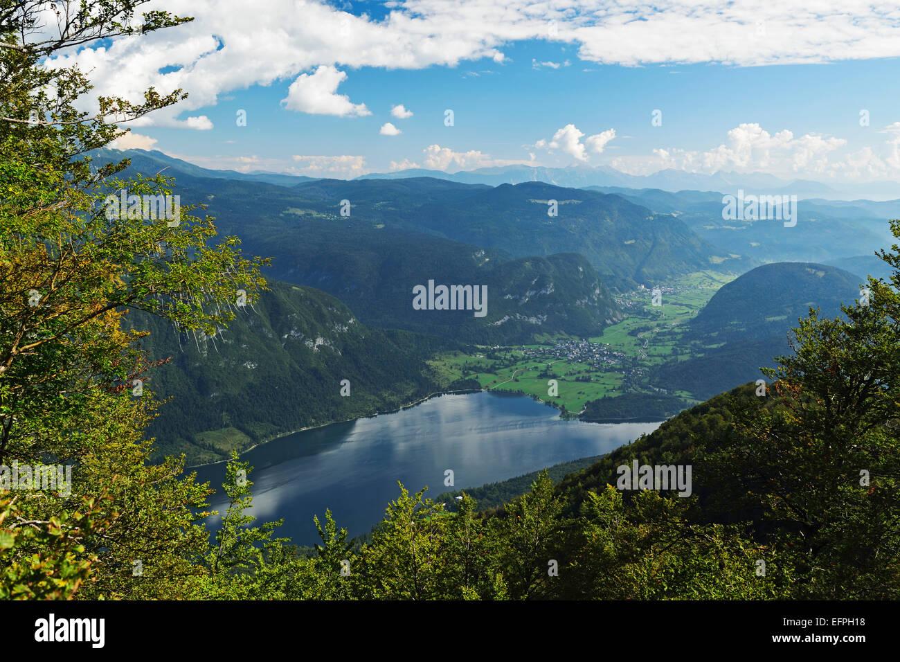 Bohinj-See, Bohimj Tal, Julischen Alpen, Nationalpark Triglav, Slowenien, Europa Stockbild