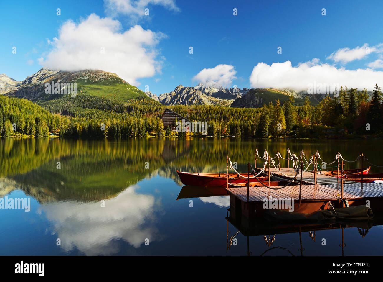 Strbske Pleso, hohe Tatra (Vysoke Tatry), Slowakei, Europa Stockbild