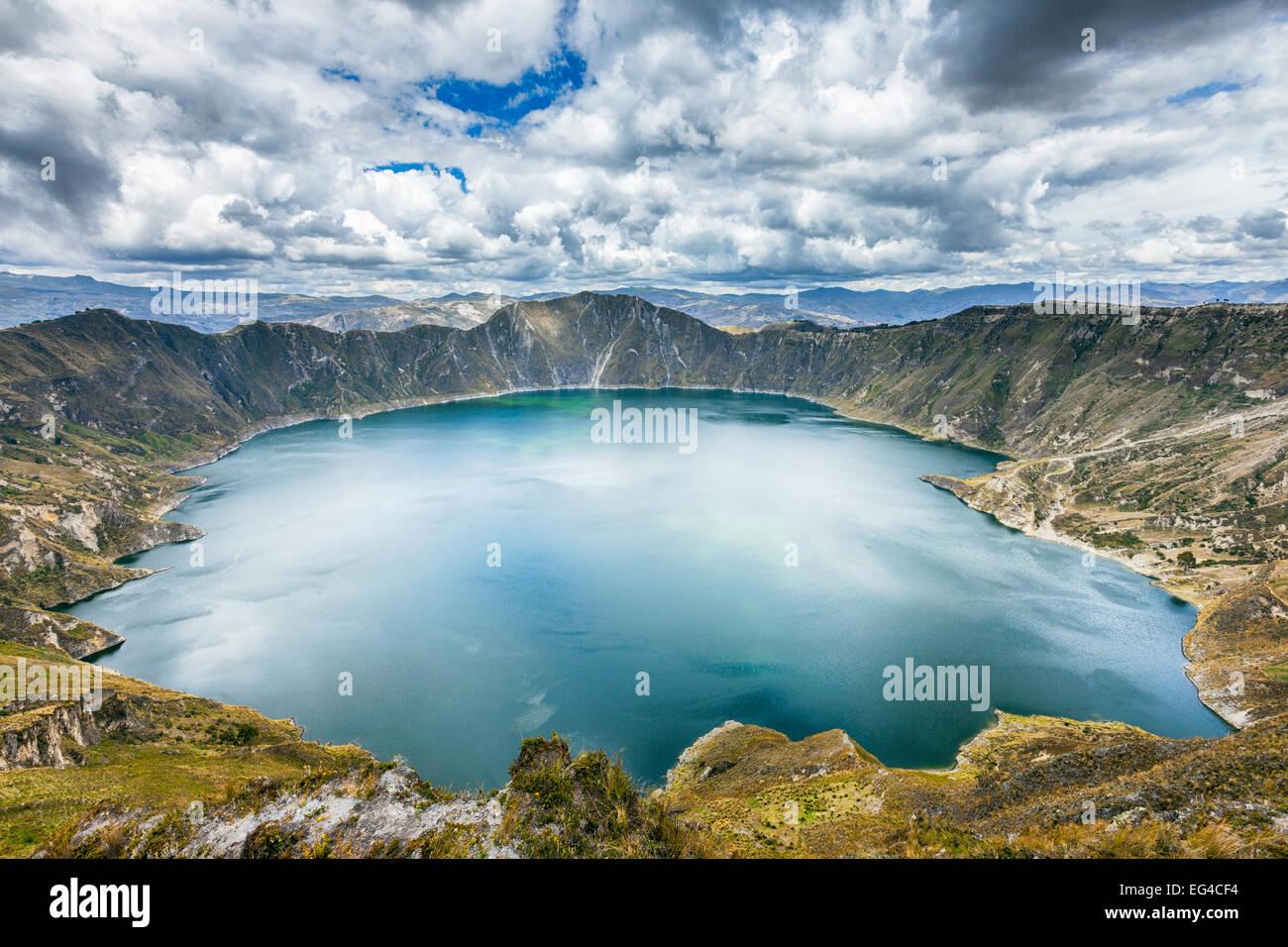 Quilota Crater Lake Provinz Cotopaxi Ecuador September 2010. Stockbild