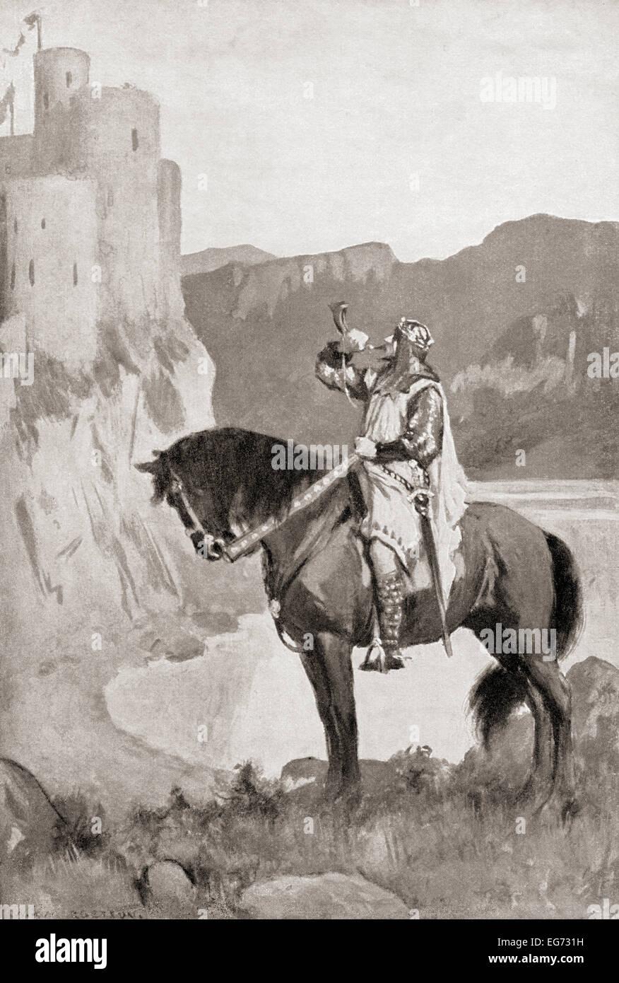 Uther Pendragon.  Legendärer König von Sub-römischen Britannien und Vater von König Arthur. Stockbild