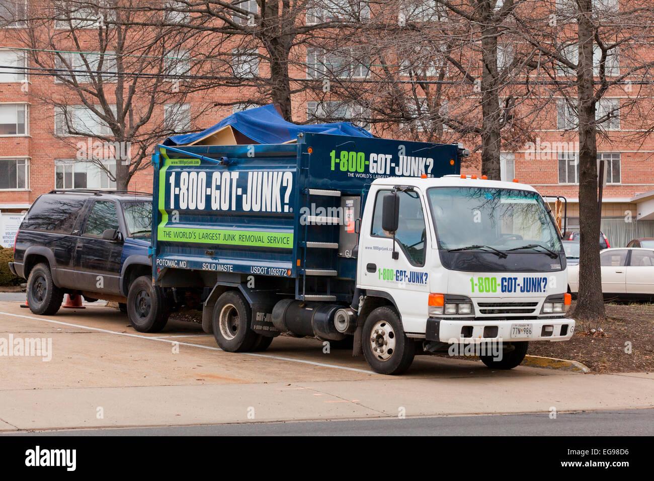 Junk-e-pickup-Service LKW - USA Stockbild