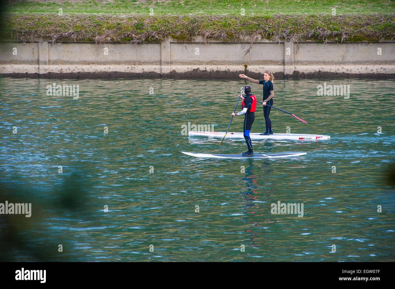 Italien Piemont Turin Valentino-Park an den Po River Sports Stockbild