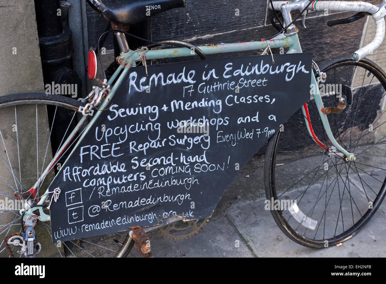Wunderschön Upcycling Fahrrad Das Beste Von Ein Wird Verwendet, Um Ein Und Recycling-service
