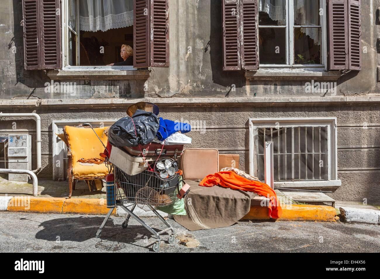Türkei, Istanbul, Beyoglu, Galata, Straßenbild und Street Szene in einem beliebten Stadtteil von Istanbul Stockbild