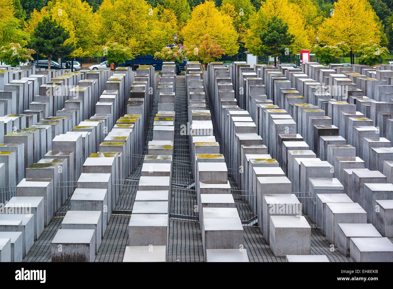 Berlin, Deutschland am Holocaust-Denkmäler. Stockbild
