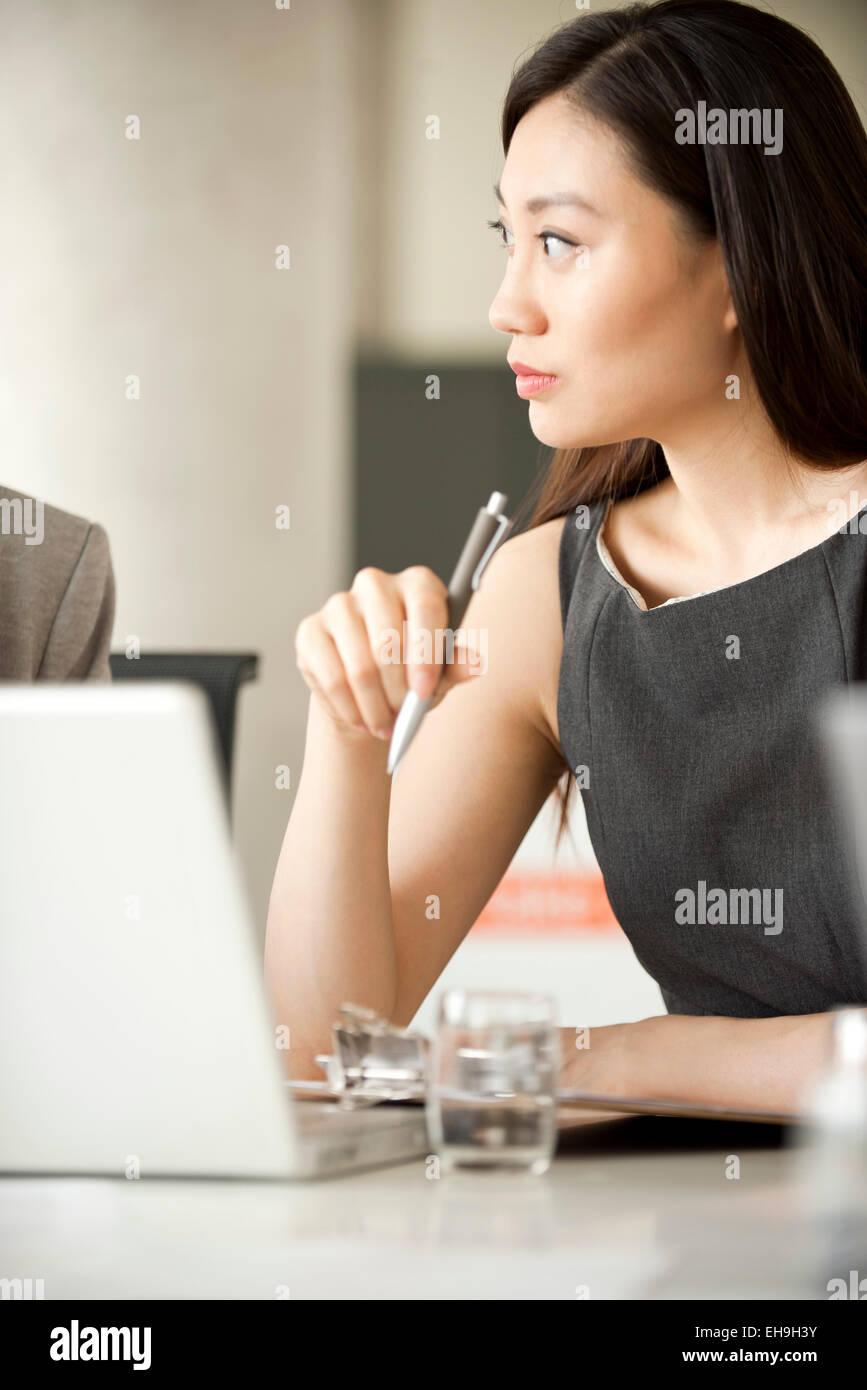 Geschäftsfrau Tagung Stockbild