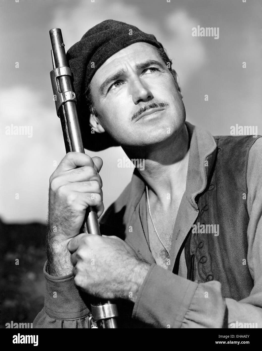 """Patric Knowles, am Set des Films """"Quebec"""", 1951 Stockbild"""