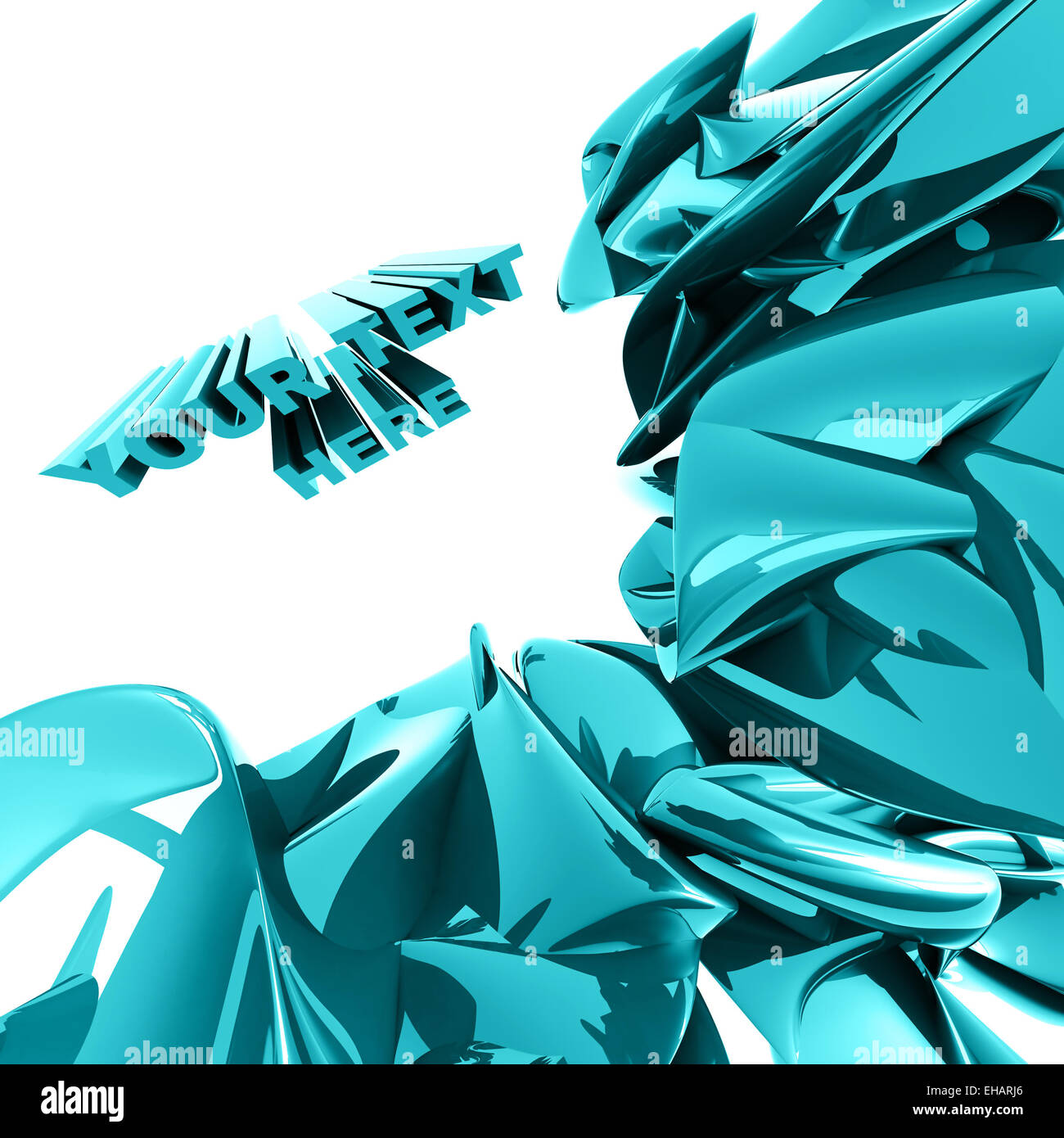 Blaue Abstraktion wie eine Flüssigkeit Stockbild