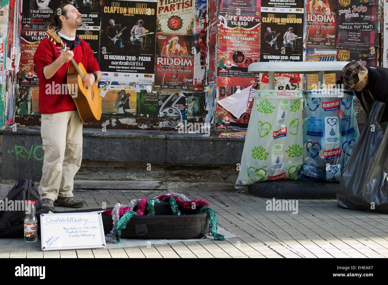Street Live Istanbul - Leben in Istanbul Stockbild