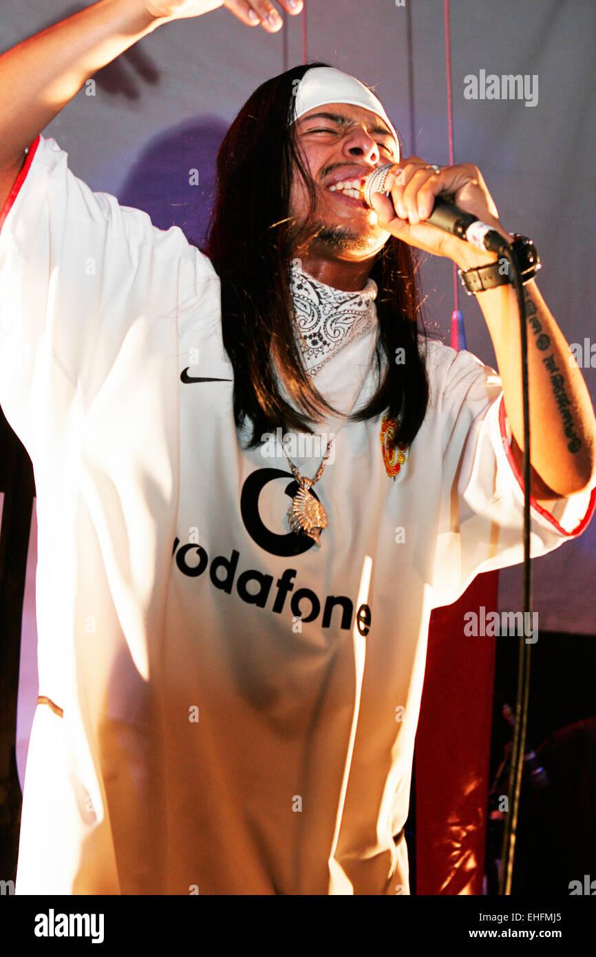 Leben Sie in der Latin Hip Hop und Reggaeton-Festival an der Carling Academy Islington-London. Stockbild