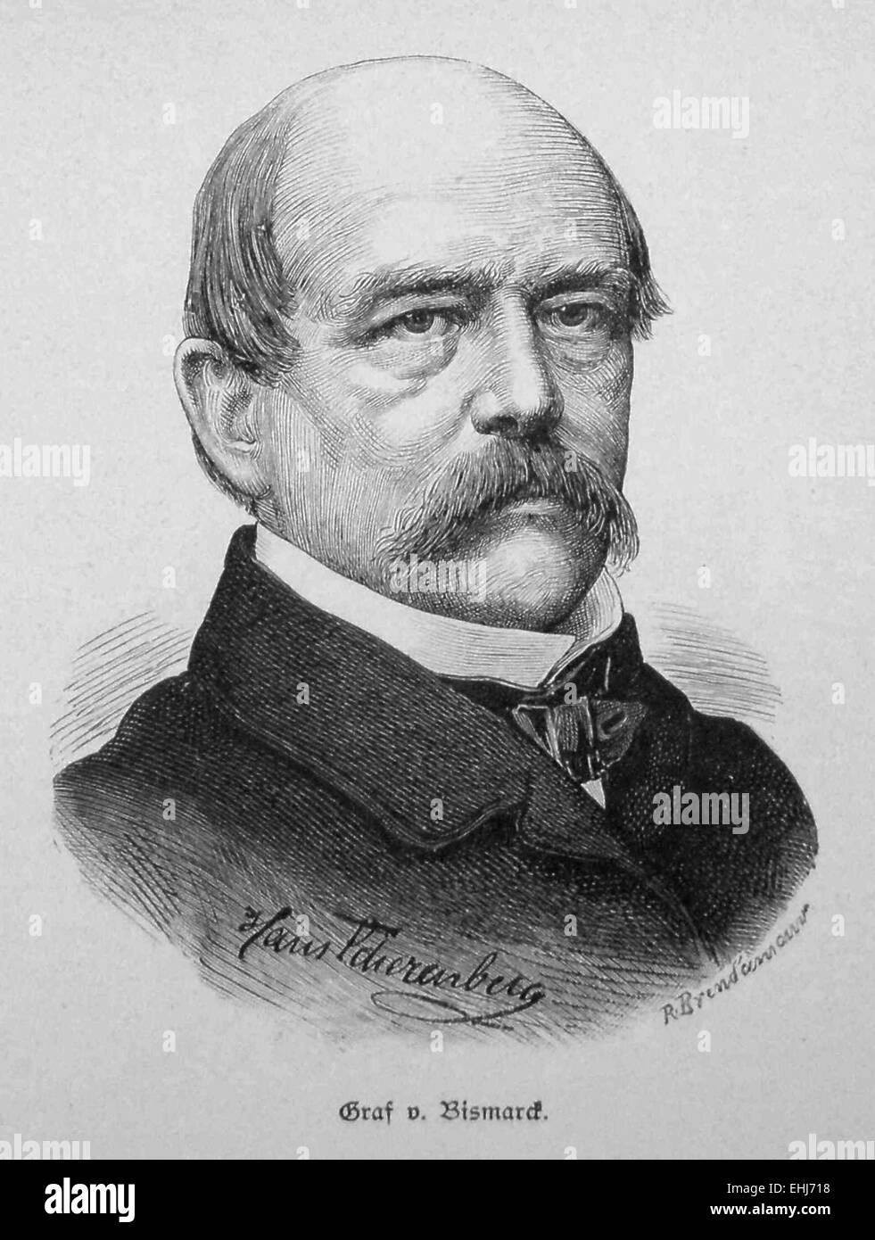 Graf Otto von Bismarck Stockbild