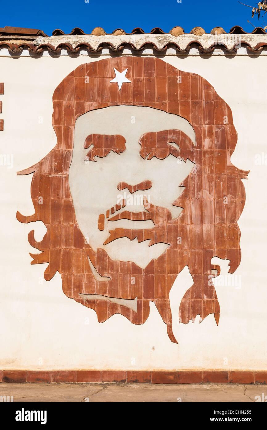 Porträt von Ernesto Che Guevara, Kuba. Stockbild