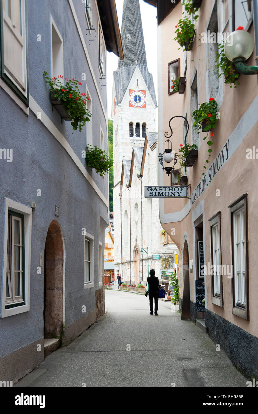 Hallstatt, Salzkammergut, Österreich Stockbild