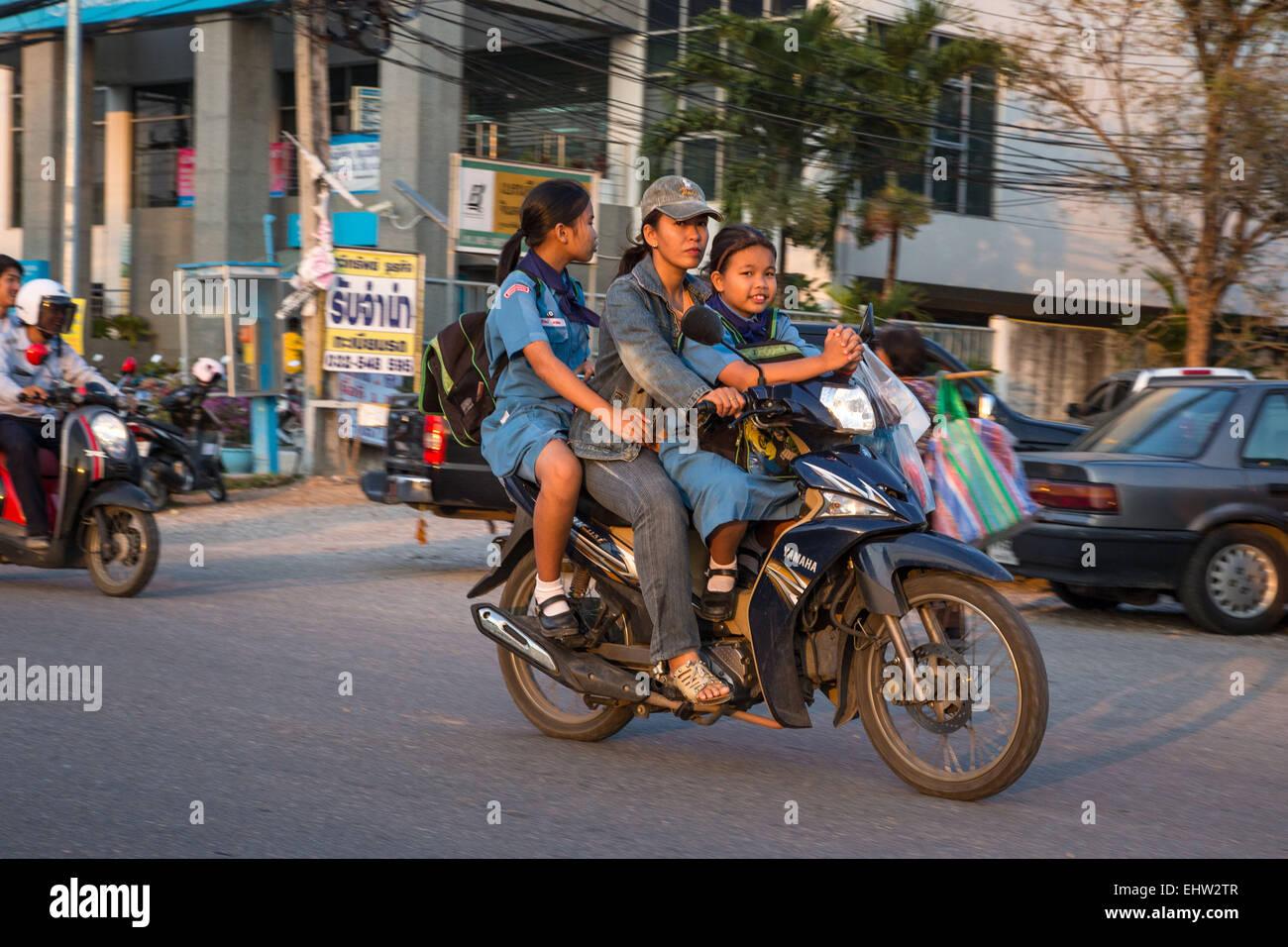 ALLTAG IN THAILAND, SÜDOSTASIEN Stockbild