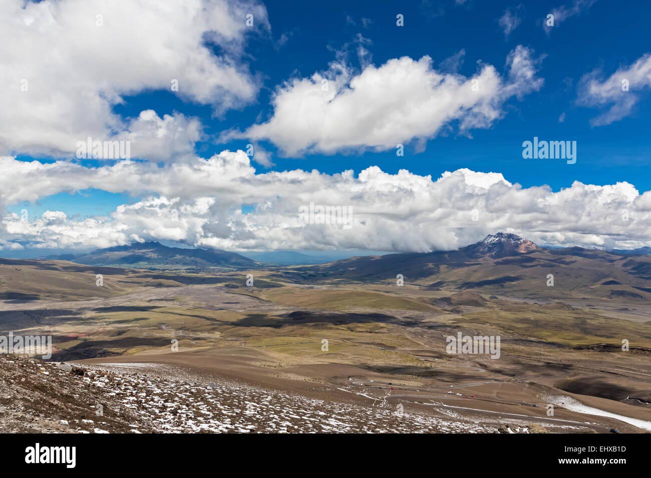 Südamerika, Ecuador, Provinz Vulkan Cotopaxi, anzeigen Sincholagua Vulkan Cotopaxi Nationalpark Stockbild