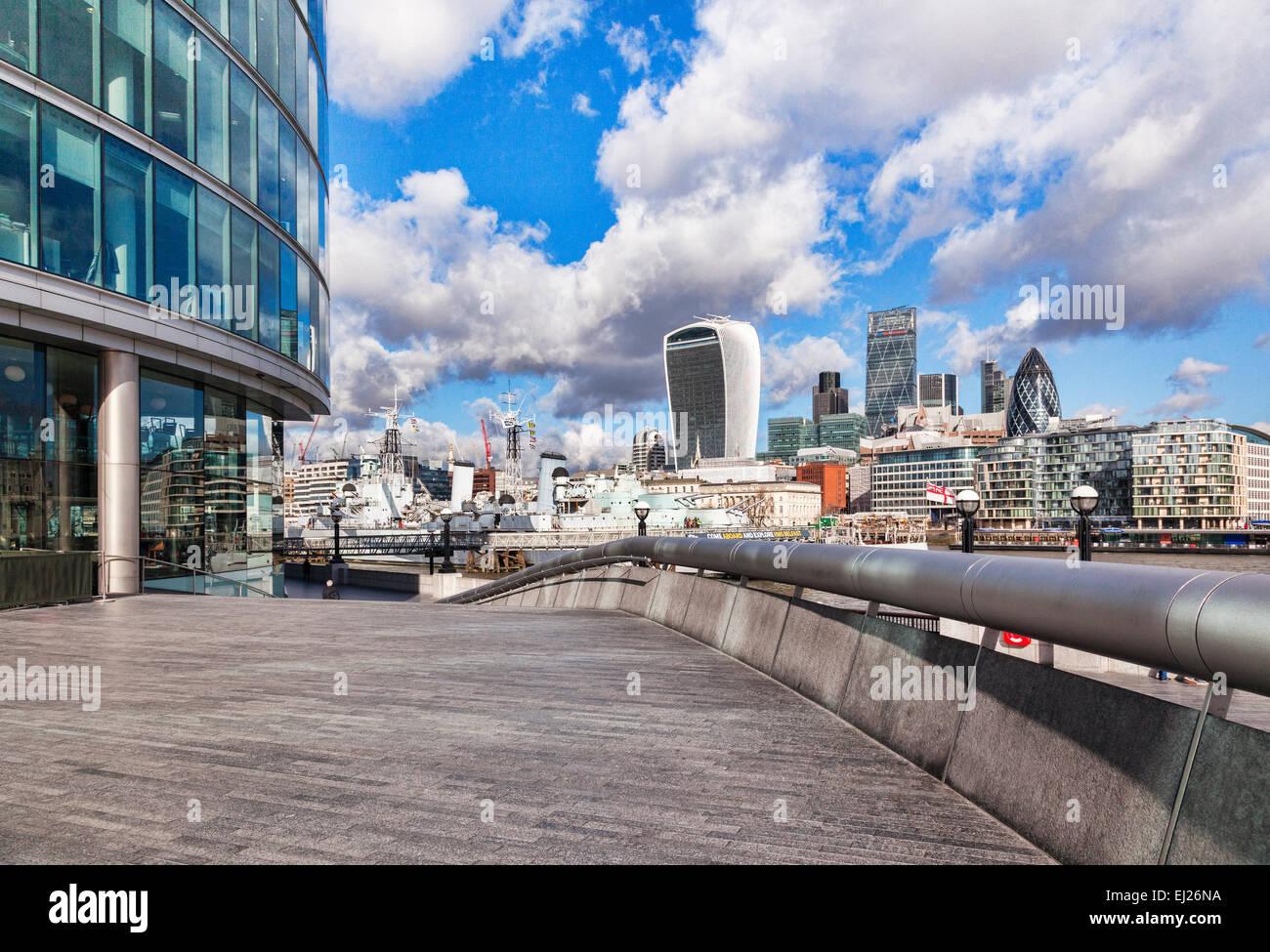 Skyline von London und mehr London, London, England. Stockbild