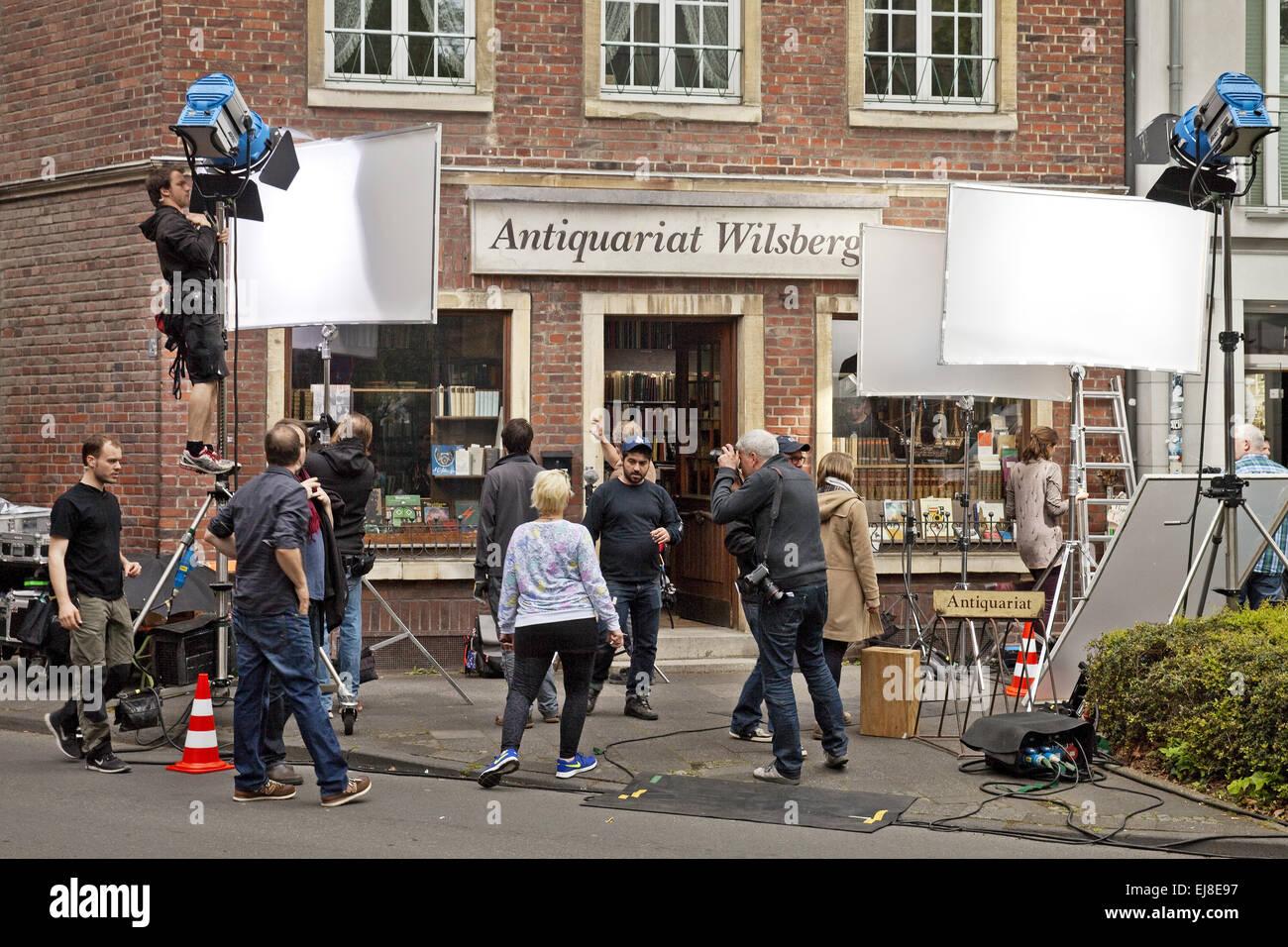 Dreharbeiten für einen Film, Münster Stockbild