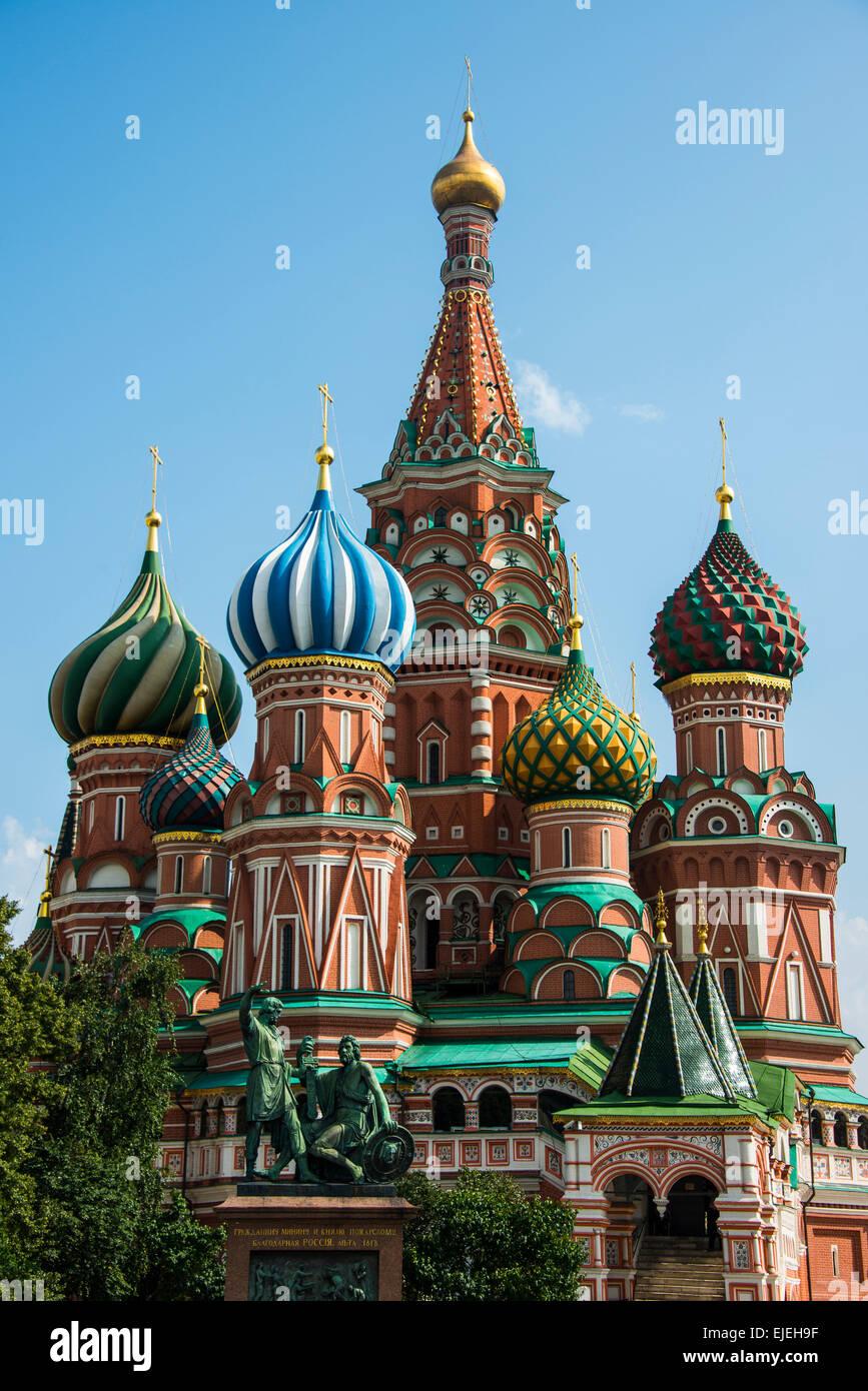St. Basilius-Kathedrale auf dem Roten Platz, Moskau, Russland Stockbild