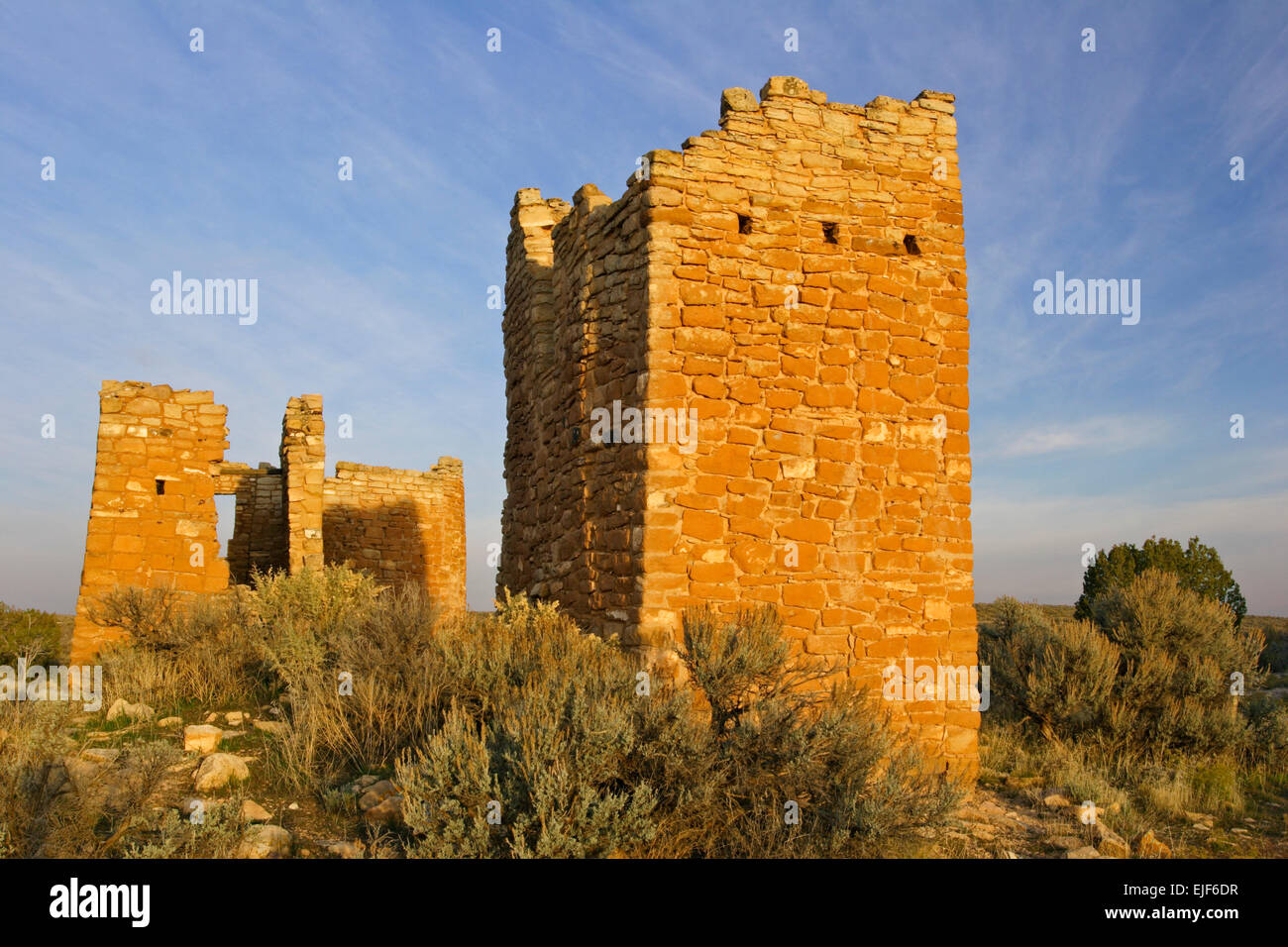 Hovenweep Burg, Square Tower Group, Hovenweep National Monument, Utah, USA Stockbild