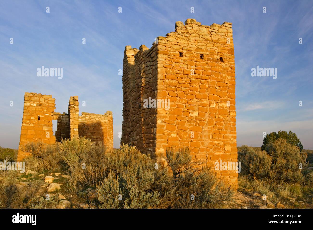 Hovenweep Burg, Square Tower Group, Hovenweep National Monument, Utah, USA Stockbild