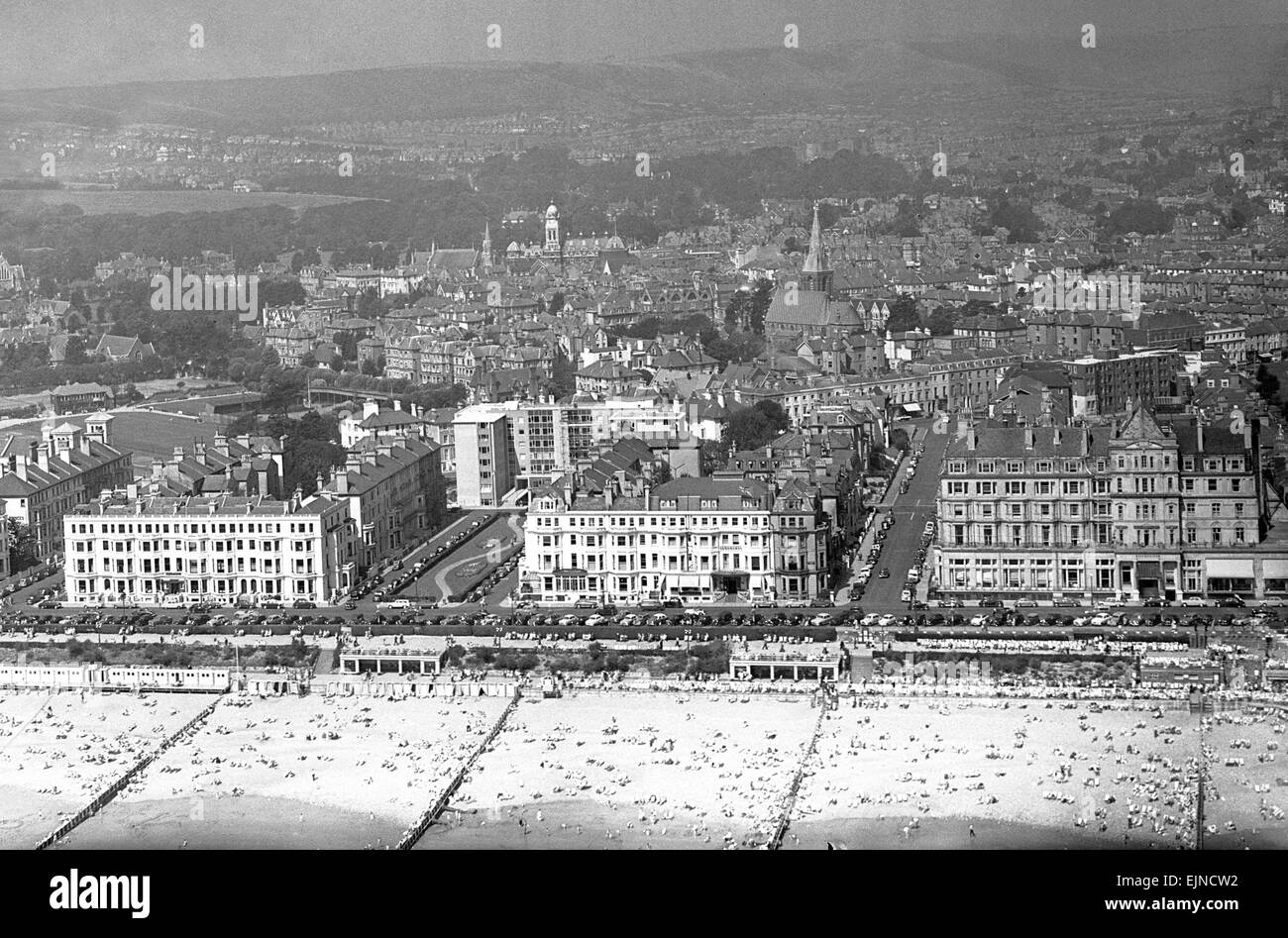 Eastbourne, East Sussex, 4. August 1957. Stockbild