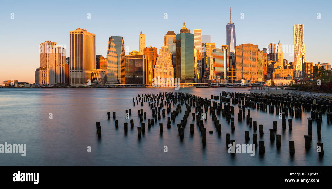 USA, New York City Downtown Manhattan Financial District, One World Trade Center (Freedom Tower) Stockbild