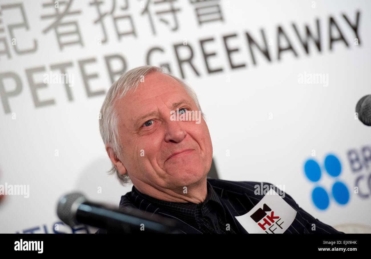 """Pressekonferenz zum britischen Regisseur Peter Greenaway. Sein neuesten Film """"Eisenstein in Guanajuato"""" Stockbild"""
