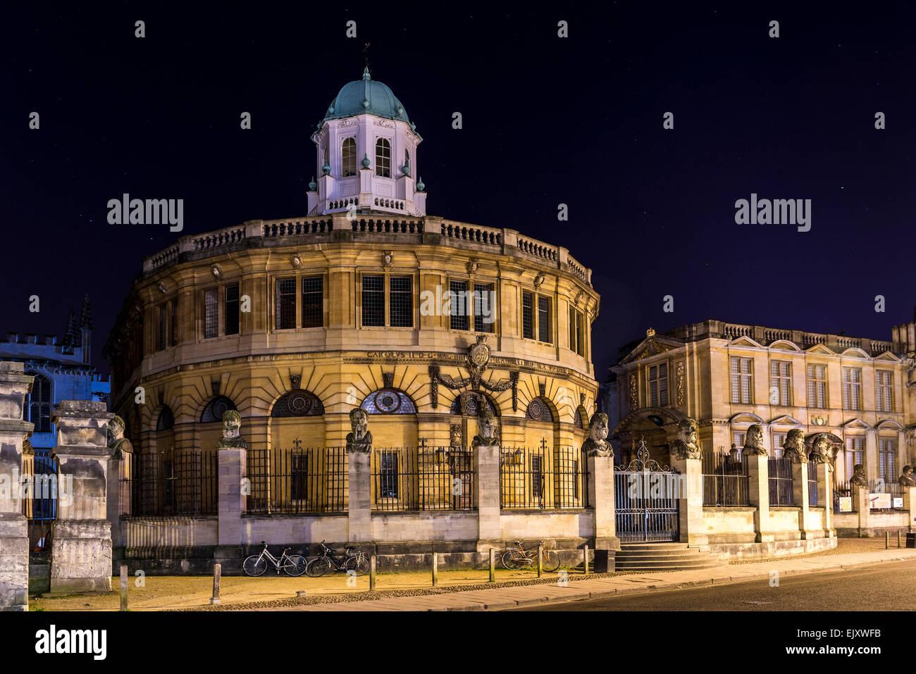 Das Sheldonian Theatre ist ein Gebäude von Oxford Universität für Konzerte und Preisverleihungen, Stockbild