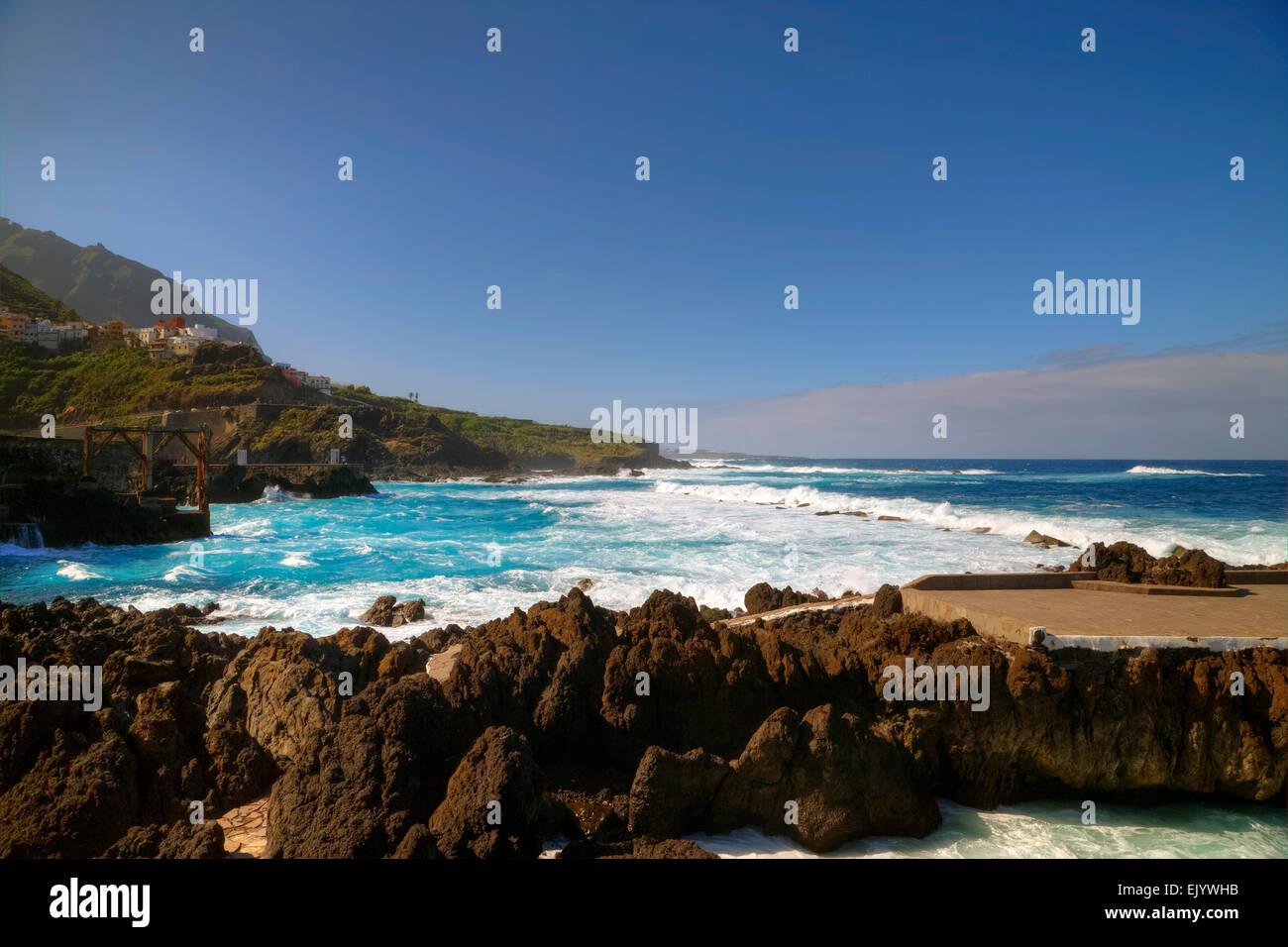 Garachico, Teneriffa, Kanarische Inseln, Spanien Stockbild