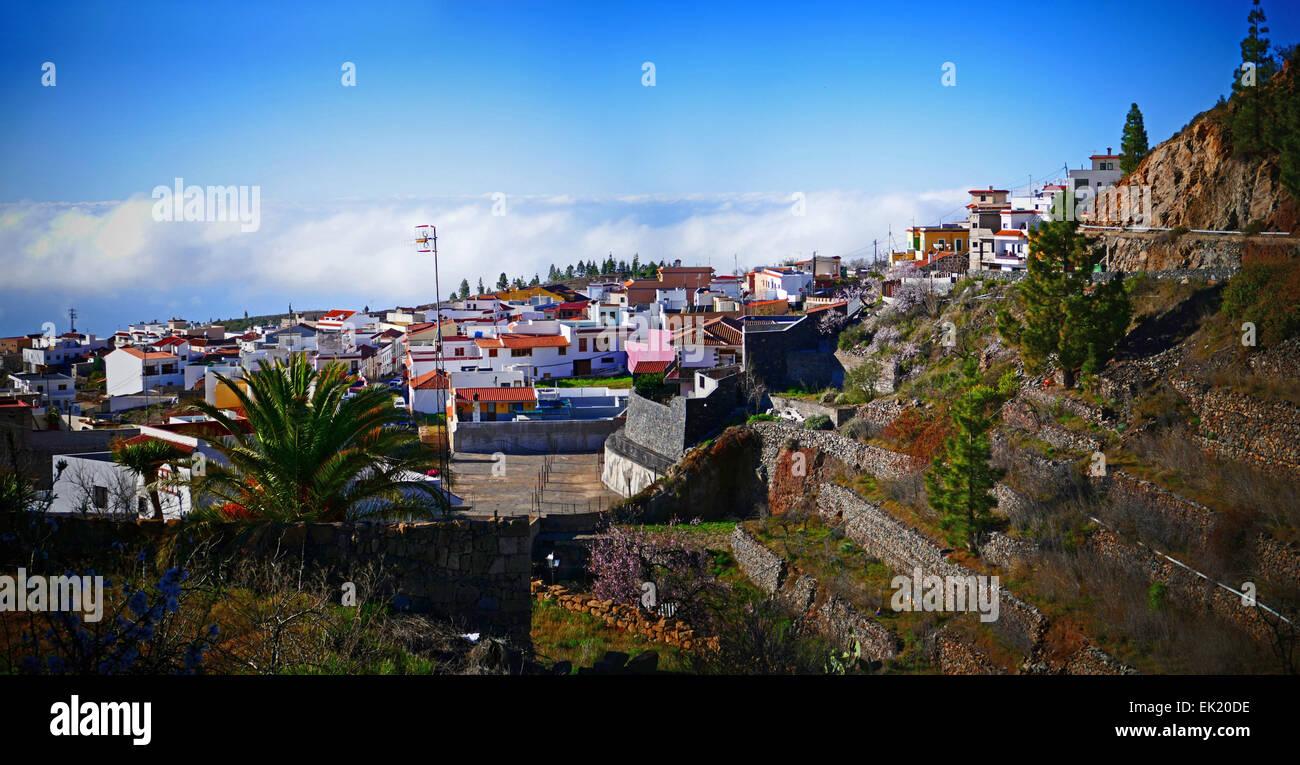 Spanien-Kanarische Inseln Teneriffa Vilaflor Skyline Wolke Stockfoto