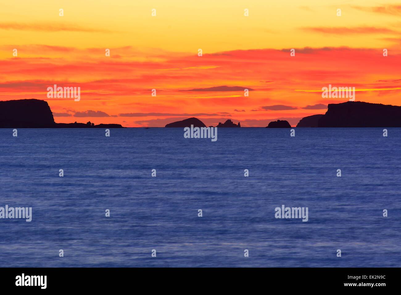 Sonnenuntergang in Ibiza, Spanien Stockbild