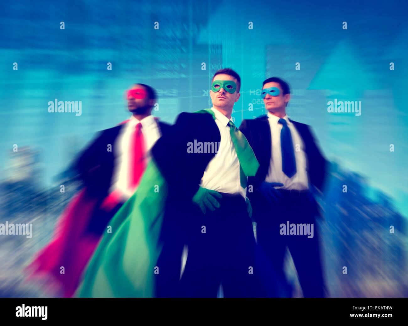 Superheld Geschäftsmann Börse Konzept Stockbild