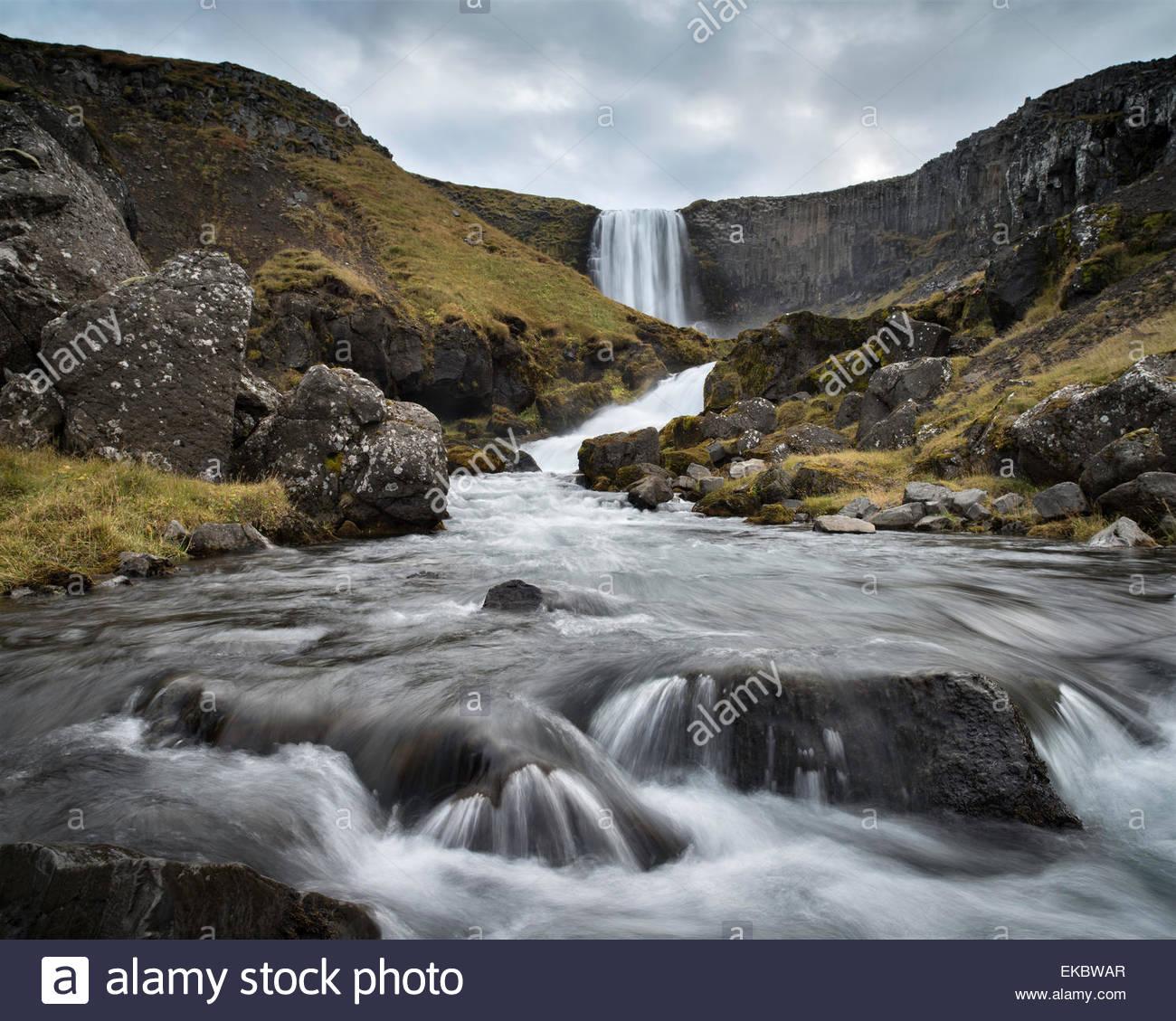 Svodufoss Wasserfall, Snaefellsnes Halbinsel, Island Stockbild