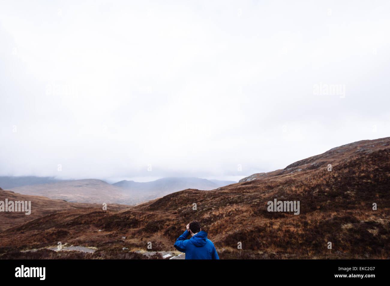 Menschen wandern, Glencoe, Schottisches Hochland, Schottland Stockbild