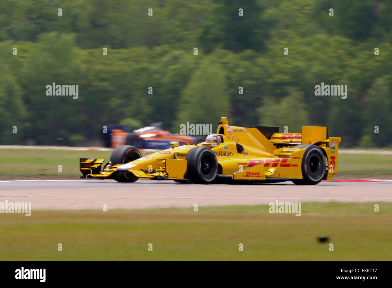 Avondale, LA, USA. 11. April 2015. #28 Ryan Hunter-Reay Andretti Autosport während des Indy Grand Prix von Stockbild