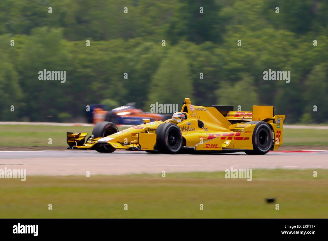 Avondale, LA, USA. 11. April 2015. #28 Ryan Hunter-Reay Andretti Autosport während des Indy Grand Prix von Stockbild