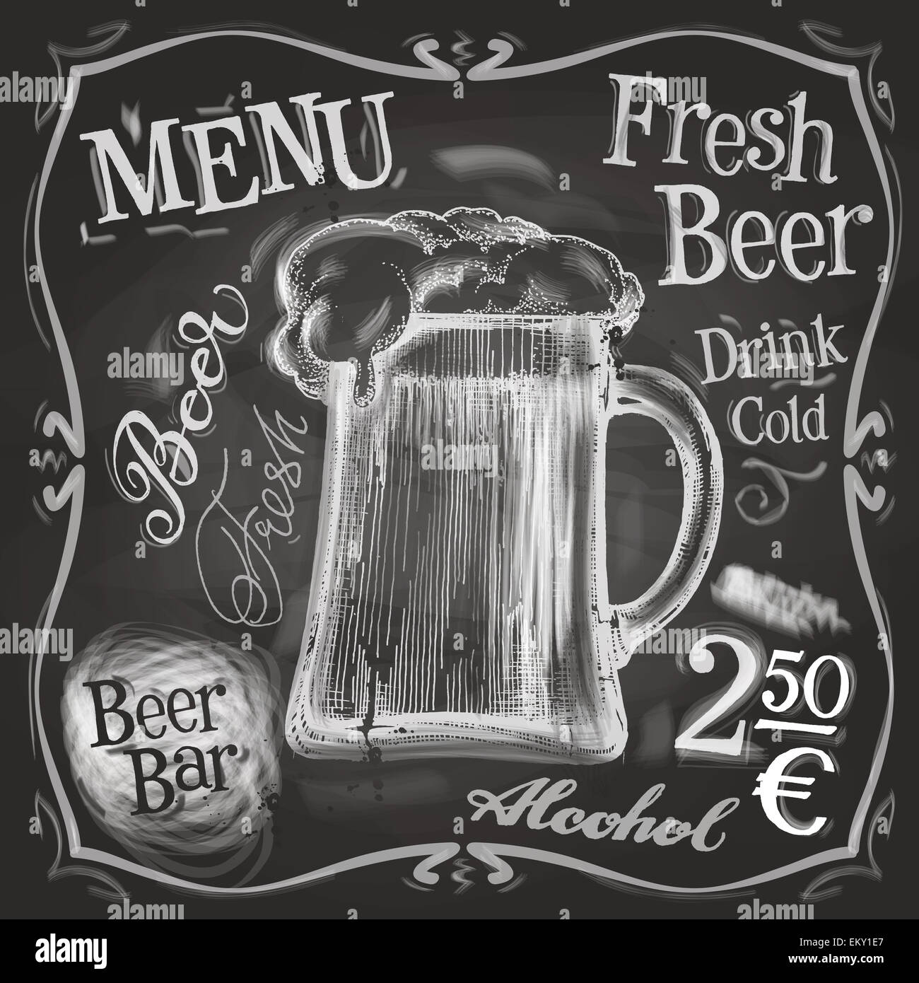 Pub-Vektor-Logo-Design-Vorlage. Bier-Becher oder Menü-Board-Symbol ...