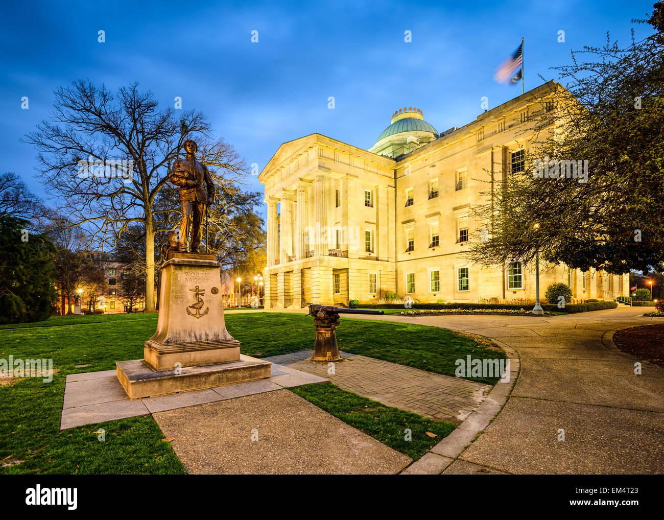 Raleigh, North Carolina, USA State Capitol Building. Stockbild