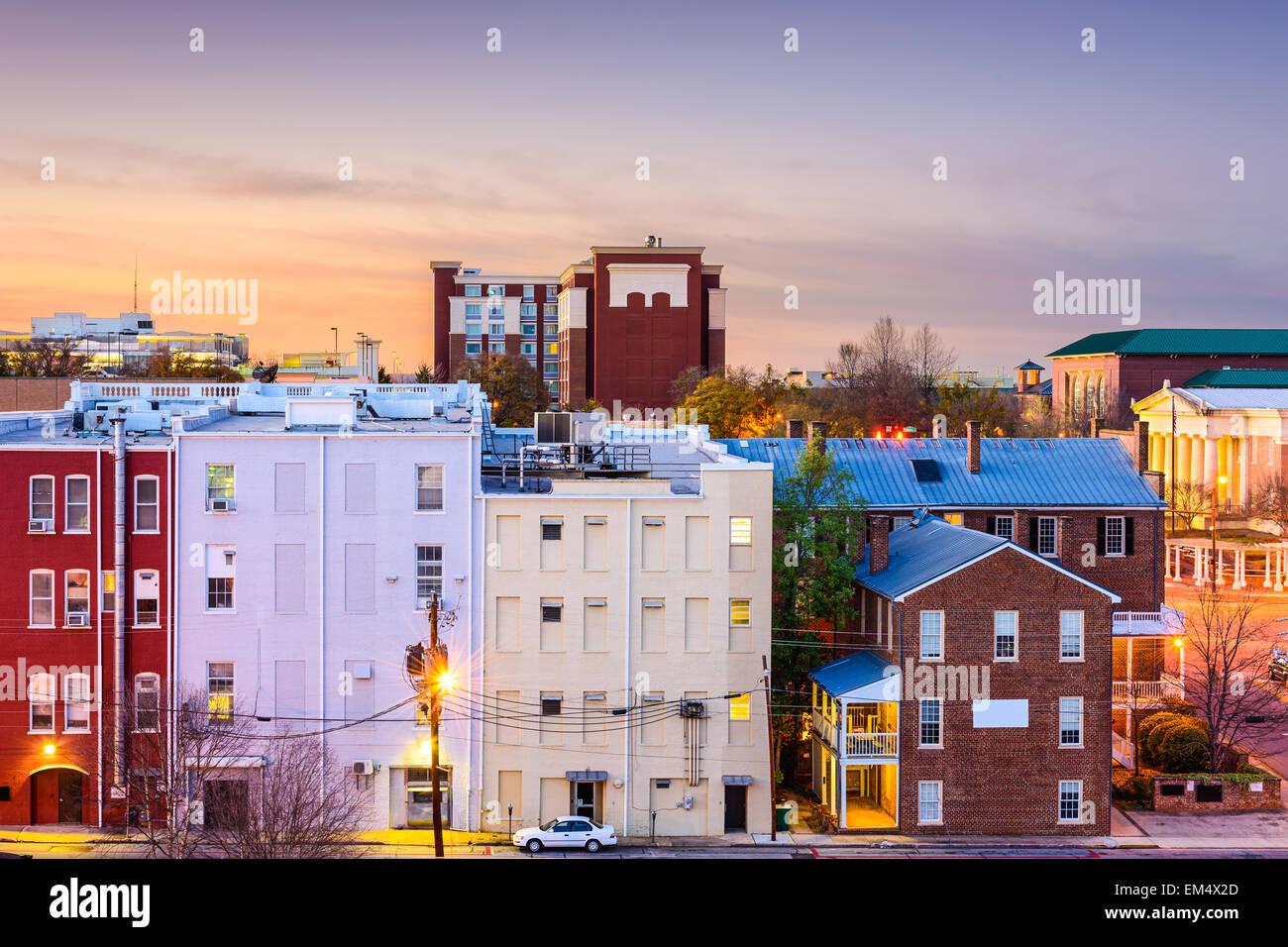Athens, Georgia, USA Innenstadt Stadtbild. Stockbild
