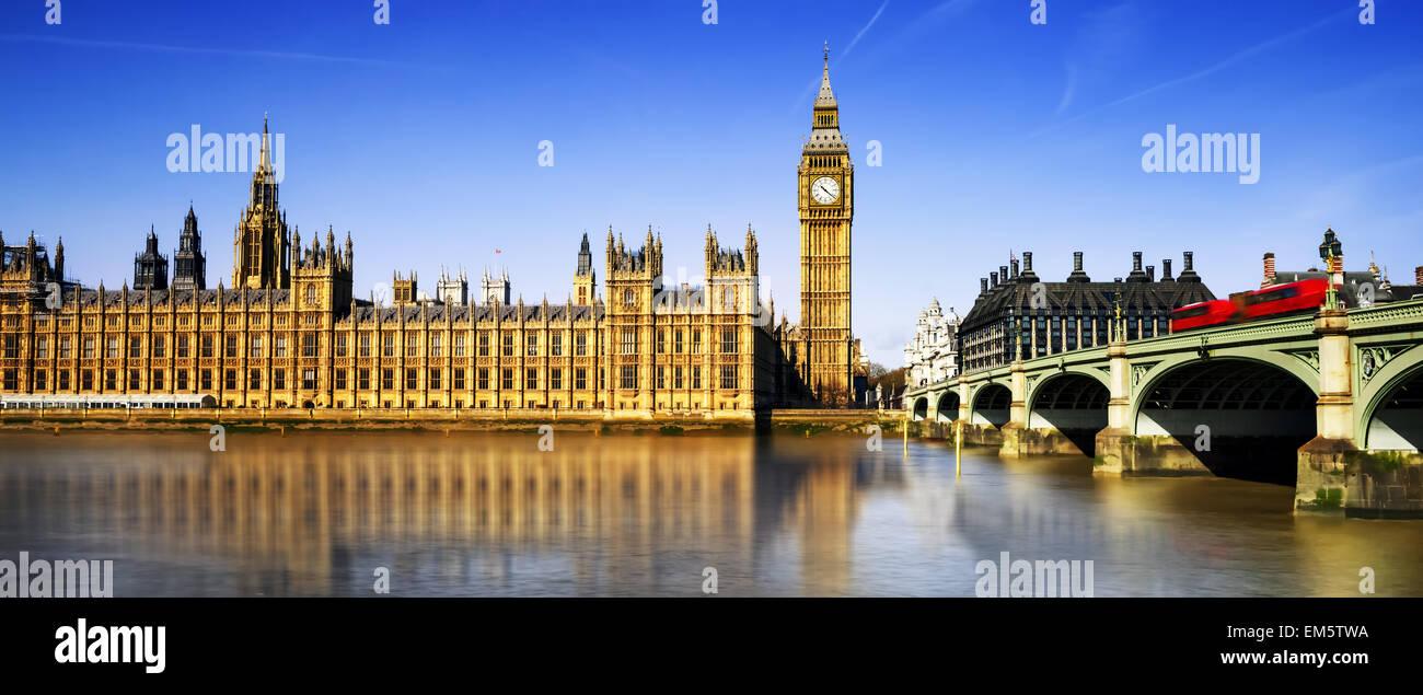 Big Ben und die Houses of Parliament, London, UK Stockbild
