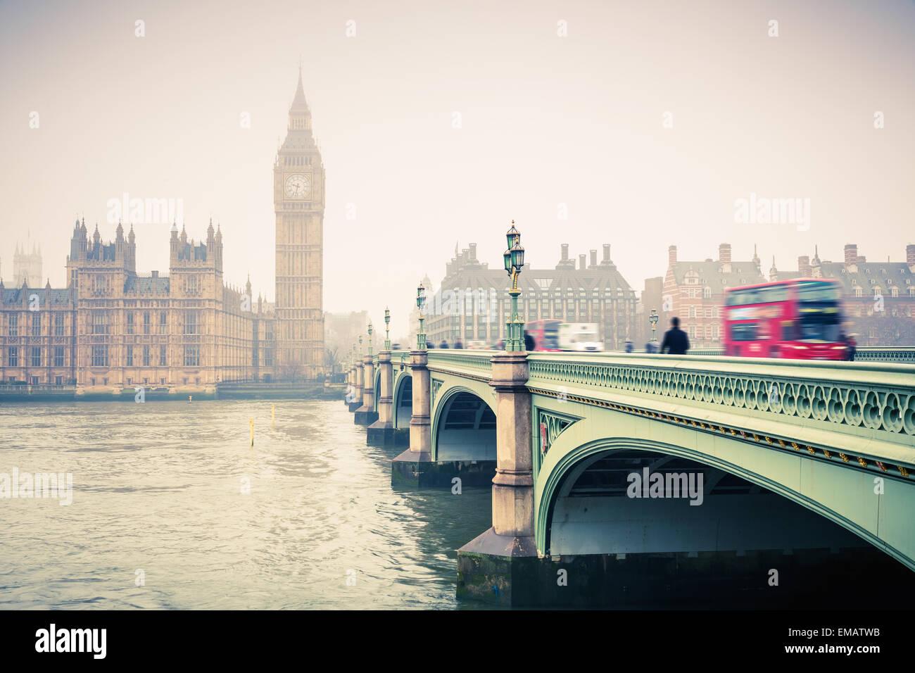Big Ben und Westminster bridge Stockbild